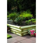 Sleepers - New Green Treated Softwood Mini Railway Sleepers Rounded Edges 100mm x 125mm x 1.8m